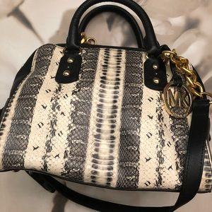 Michael Kors Snake Print Handle/Shoulder Bag